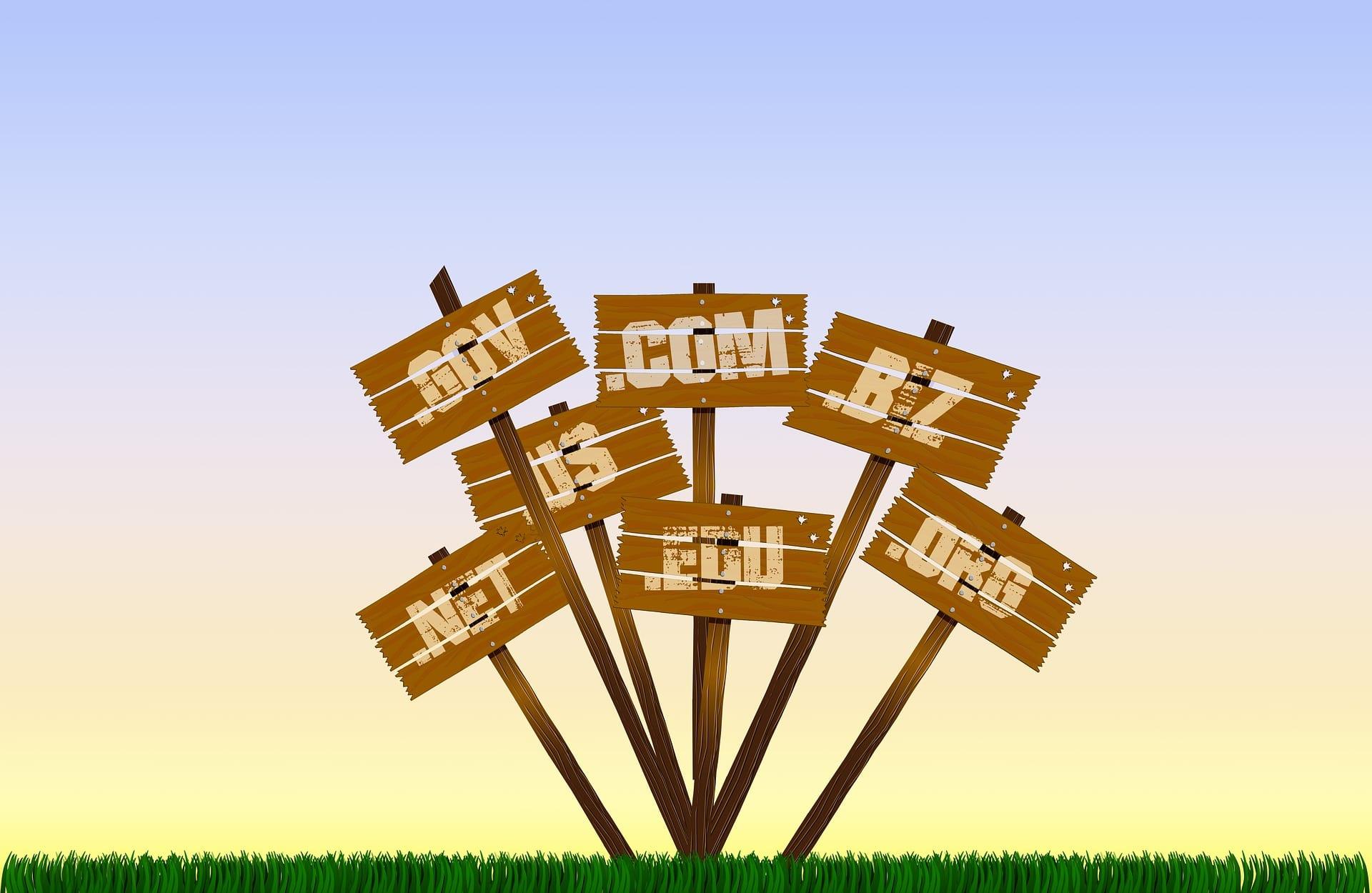 Domainendungen im Internet